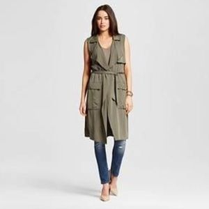 Olive green duster wrap O14